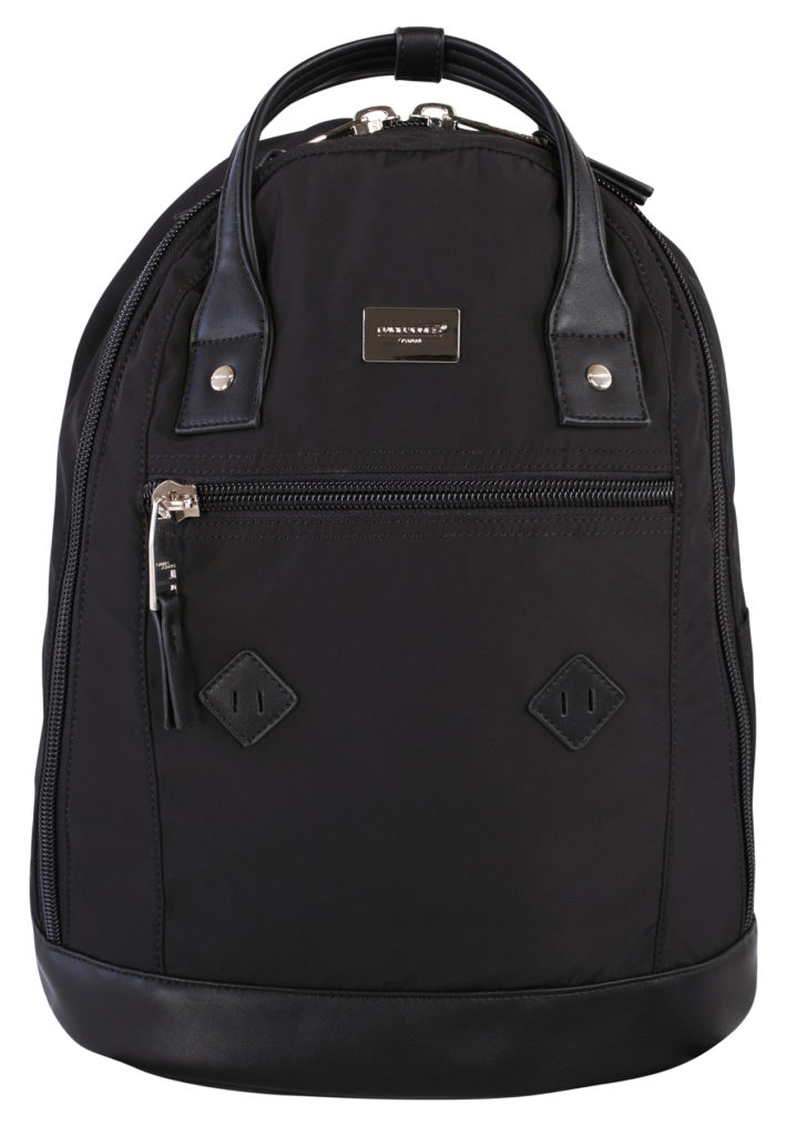 David Jones PU Backpack Double Top Handle DJ2179 Black Front