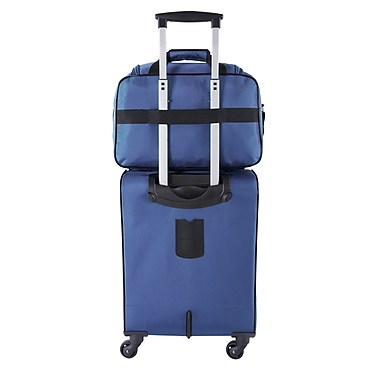 Atlantic Essential 2-Piece Set Travel Tote and 18 inch Carry-On AL18202 Blue Set Back